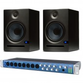 Presonus Audiobox 1818VSL USB Audio/MIDI interface package w/ 2-Presonus Eris E8 Monitors